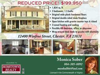 Historic real estate listing for sale in Chester, VA